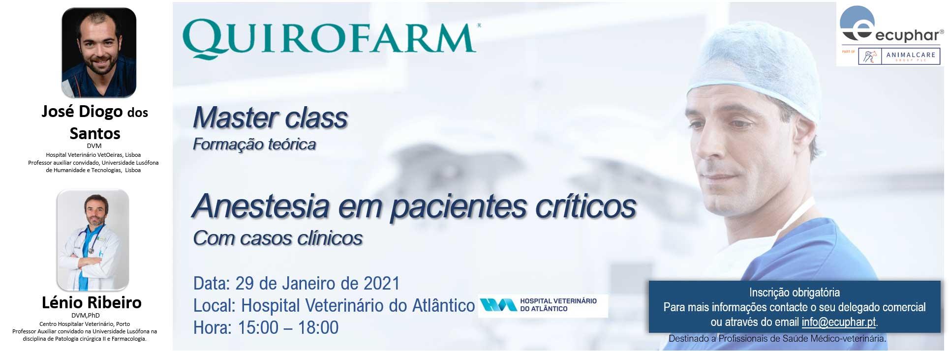 Master class: Anestesia em Pacientes Críticos